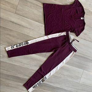 PINK by Victoria secret Pant/Tee shirt Set